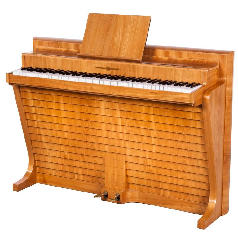 Elm Andreas Christensen Upright Piano Designed By Poul Henningsen At 1stdibs