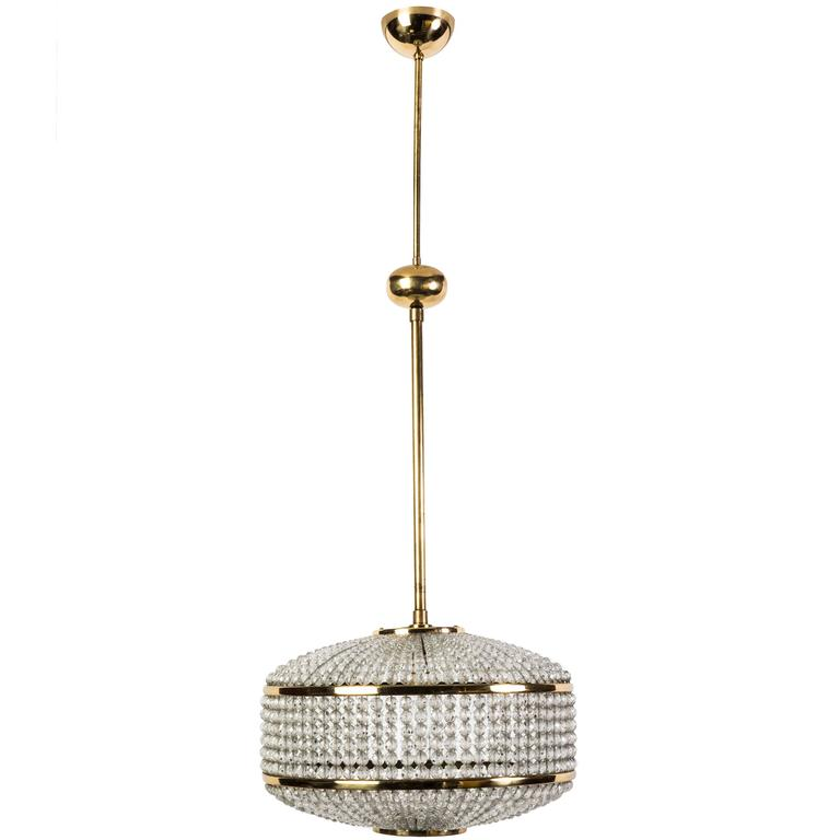 Exceptional Crystal Chandelier Pendant by Lobmeyr For Sale