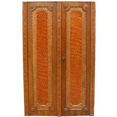 Pair of Fine Quality Oak and Maple Double Doors