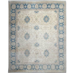Beige Cream Rug Ziegler Inspired Living room Rug Blue Persian Rugs Design Border