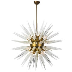Magnificent Mid-Century Modern style Sputnik Chandelier with Murano Glass Spikes