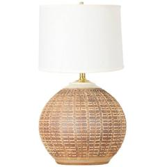 """Bob Kinzie Earthenware """"W-Series"""" Ceramic Table Lamp for Affiliated Craftsmen"""