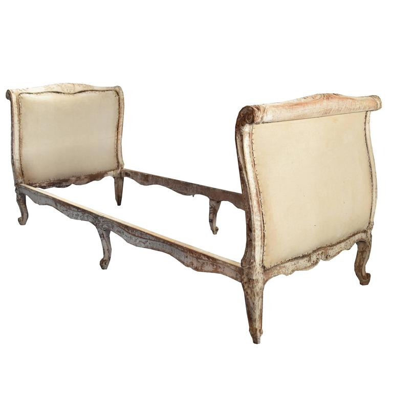 French Louis XV Style Carved Wood Daybed