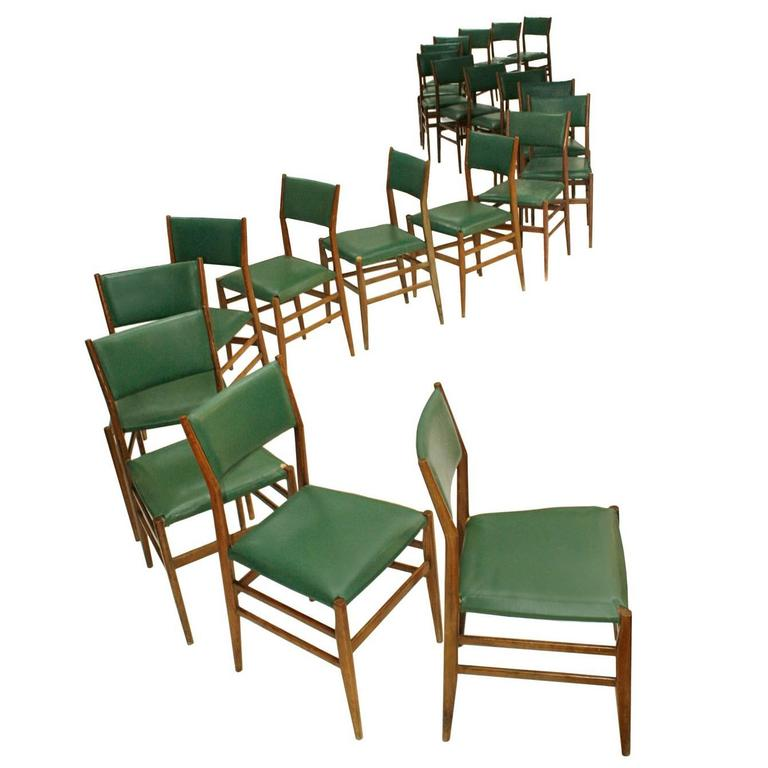 "Set of Twenty Chairs Mod.""Leggera"" Designed by Gio Ponti"