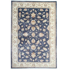 Oriental Rug Elegant Navy Blue Rug Hand Made Carpet for Sale