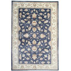 Elegant Navy Blue Rug, Persian Style Rugs, Sultanabad Carpet