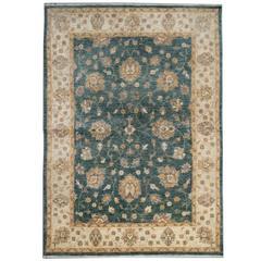 Floor Oriental Afghan Rugs with Persian Carpet Ziegler Green Rug Design