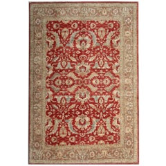 Red Oriental Rug Zeigler Hand Made Carpets Living Room Rugs for Sale