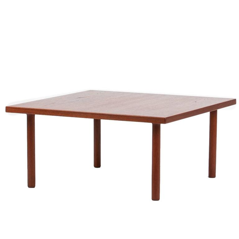 Hans Wegner Square Coffee Table Teak For Getama 1960s At 1stdibs