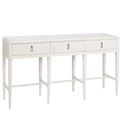 Three-Drawer Painted Console Table
