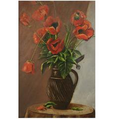 Poppies Still Life Painting