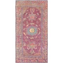 Vintage Silk Samarkand 'Khotan' Rug