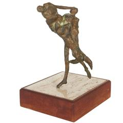 Figural Bronze Sculpture in the Brutalist Abstract Style