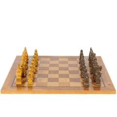 Mid-Century Chess Set with Russian Resin Pieces