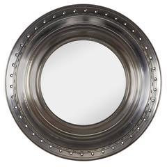 Machine Age Aircraft Engine Ring Mirror