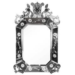 Italian Hollywood Regency Venetian Mirror