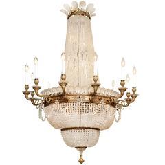 Grand Scale Twelve-Light Louis XVI Style Chandelier
