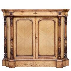 Unusual Early Victorian Bird's-Eye Maple Cabinet