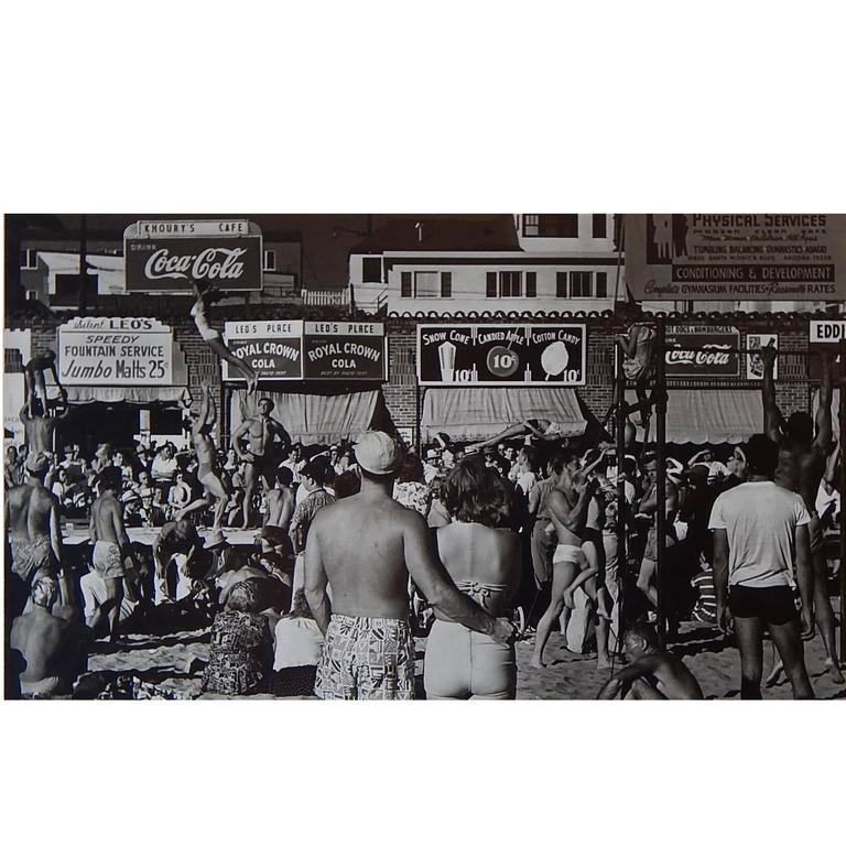 Max Yavno Gelatin Silver Print, 1948, Muscle Beach