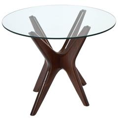 French Mid-Century Modern Period Rosewood Side Table