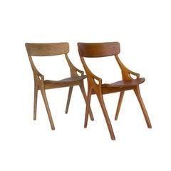 1958, Arne Hovmand-Olsen, Oak 1950s Dining Chair