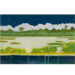 Magical Contemporary Landscape Painting by Kazaan Viveiros