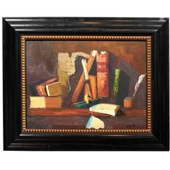 Library Still Life Oil Painting