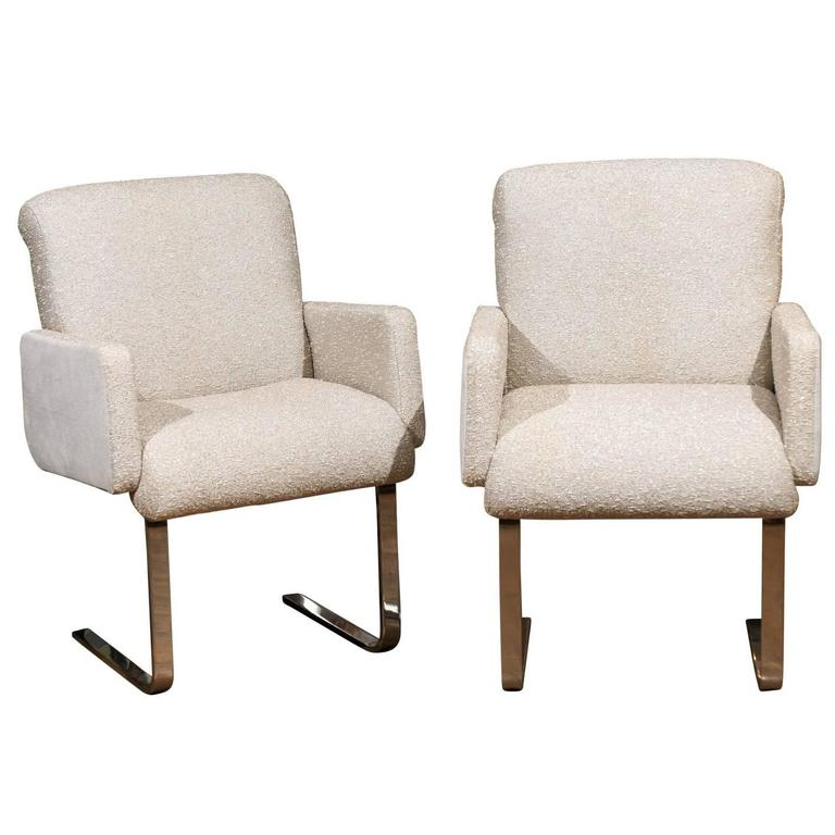 """Pair of """"Lugano"""" Chairs by Mariani for Pace For Sale"""