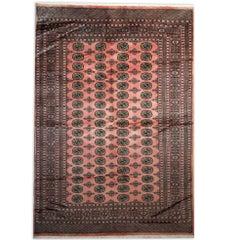 Handmade Carpet Pink Bukhara Rugs, Oriental Rug Living Room Rugs for Sale