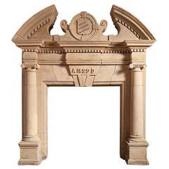 English Coade Stone Antique Chimneypiece
