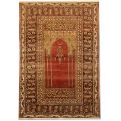 Antique Rugs, Turkish Rugs, Mihrabi Prayer Rug, Anatolian Carpet