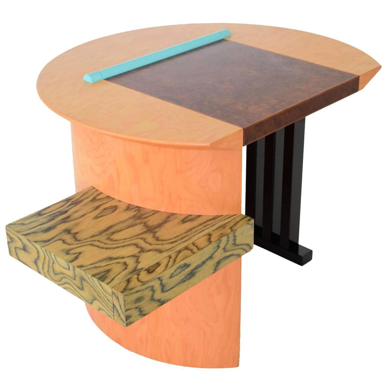 sophia a writing desk by aldo cibic for memphis milano 1980s italian postmodern group furniture