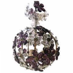 Amethyst and Clear Flowers Lantern