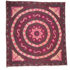 Early 20th Century 'Ai Palak' 'Moon Sky' Suzani, Densely Embroidered