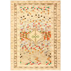 Whimsical Tribal Persian Gabbeh Rug