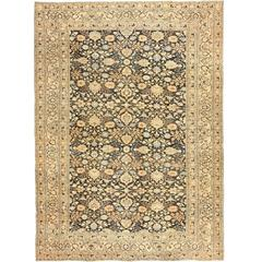 Charcoal Gray Persian Khorassan Rug