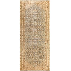 Shabby Chic Light Blue Persian Malayer Rug