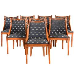 Rare Empire-Style Solid Cherry Dining Chairs FS-565