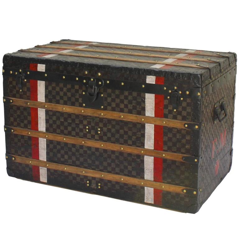 Louis Vuitton Damier Courier Trunk Circa 1930's