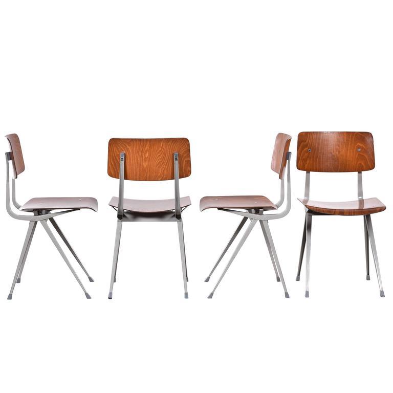 Friso Kramer Result Plywood Chairs for Ahrend de Cirkel, Netherlands