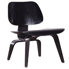 Eames LCW Black Stained Ash Lounge Chair for Herman Miller