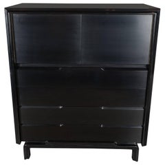Mid-Century High Chest in Hand-Rubbed Ebonized Walnut by Edmund Spence