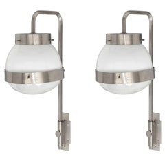 Pair of Delta Sconces by Sergio Mazza