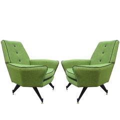 Pair of Modernist Italian Armchairs