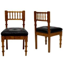 Important Pair of Neo-Antique Chairs by Michael Gottlieb Birckner Bindesbøll