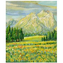 """Spingtime in the Rockies"" Painting"