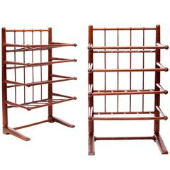 Josef Frank and Svenskt Tenn, Pair of Magazine Racks in Stained Beech 1940s