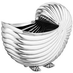 Shell Wine Cooler in Nickel Finish