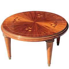 French Art Deco Period Round Coffee/Cocktail Table