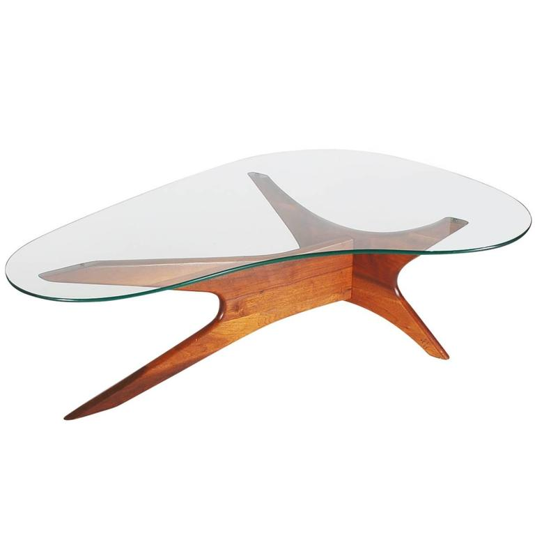 Lane Pearsall Style Mid Century Modern Coffee Table: Adrian Pearsall Mid-Century Danish Modern Style Walnut And